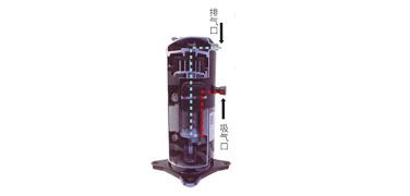 低压腔涡旋式压缩机